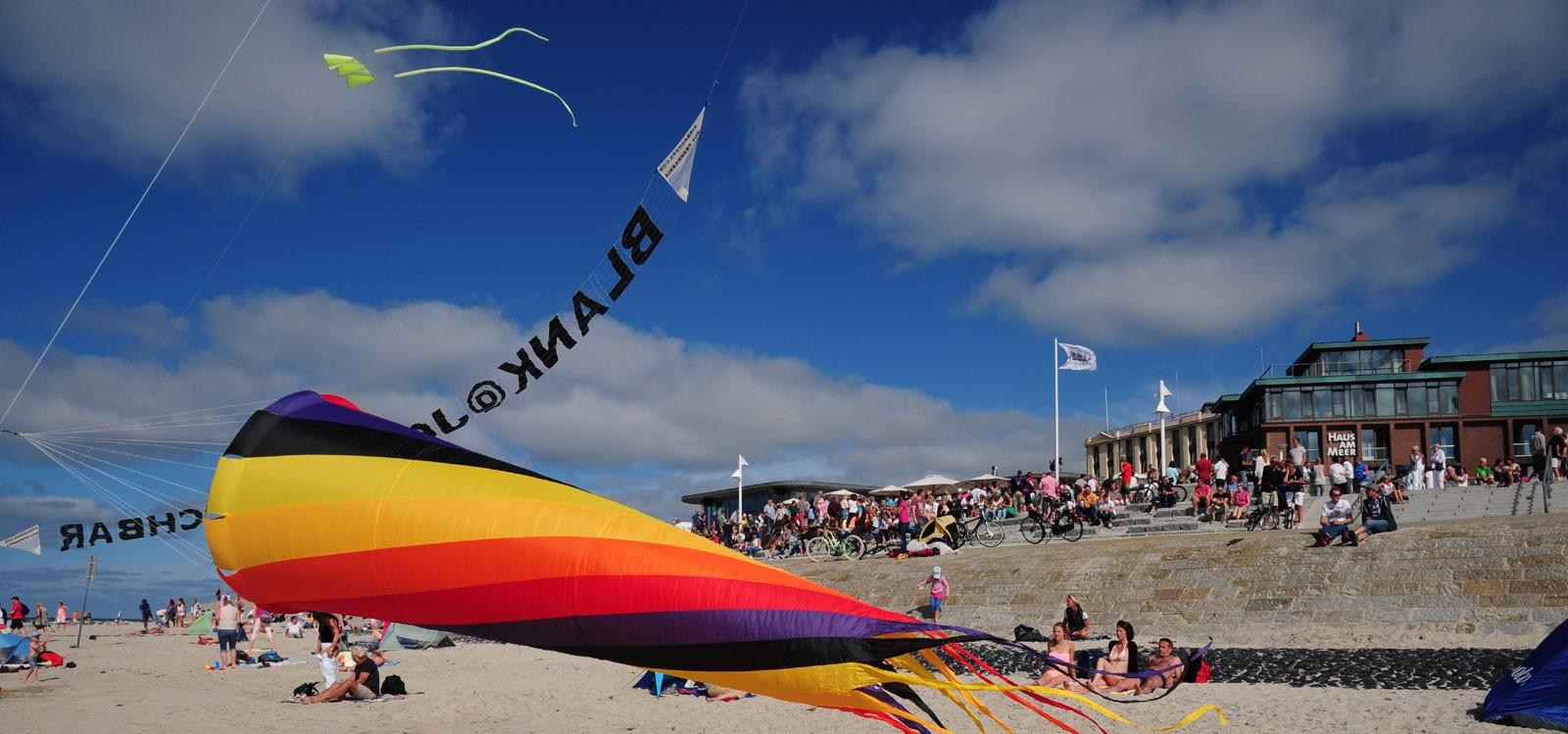 Drachen am Strand von Norderney