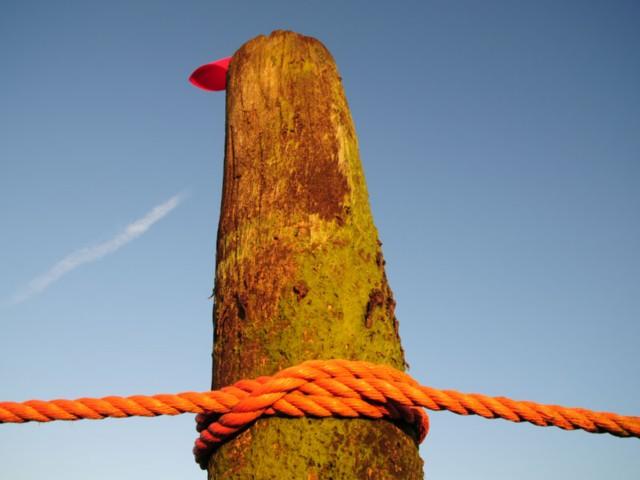 Norderney Pfahl mit Seil