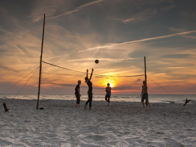 Beach Volleyball auf Norderney